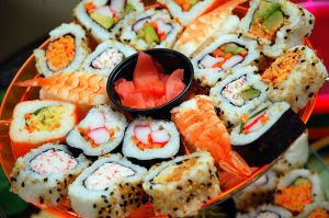 Sushi is certainly one of my favorite foods. Makes my mouth water. (photo credit: Steve Snodgrass, Creative Commons)