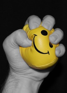 Stress balls may work for a short period of time, but self care and resting in God's presence are better bets. Photo Credit: bottled_void (creative commons)